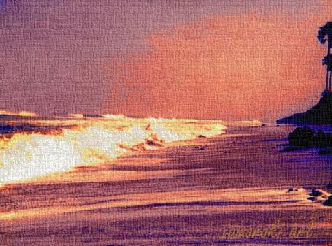 The beach in Banjul - Gambia where I saw my first African sunrise (1979)