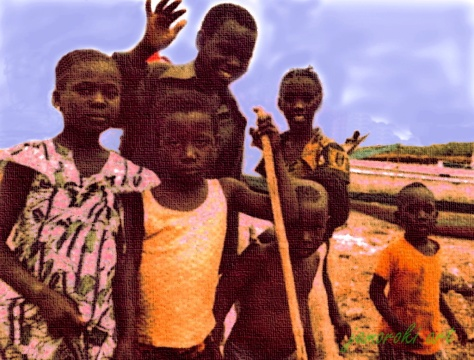 Children from the mangrove swamp village near Banjul - Gambia (1979)