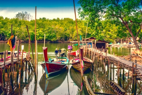 A tranquill morning at an estuary in Cape Panwa - Phuket - Thailand