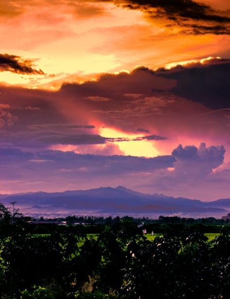 Western mountains bordering Myanmar