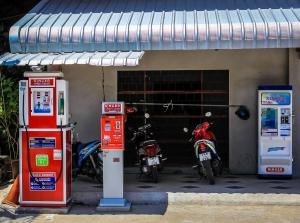 Gasoline, celphone recharge and water dispensers in Phuket