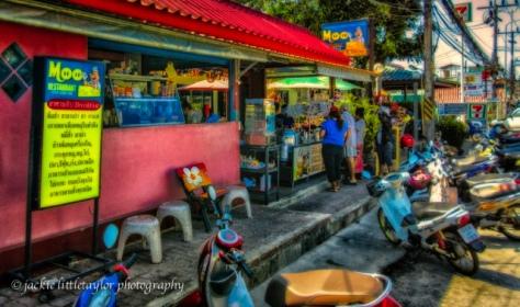 The Moo eats in Rawai Phuket Thailand