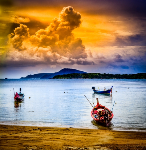 Exotic weather in Rawai bay, Phuket.