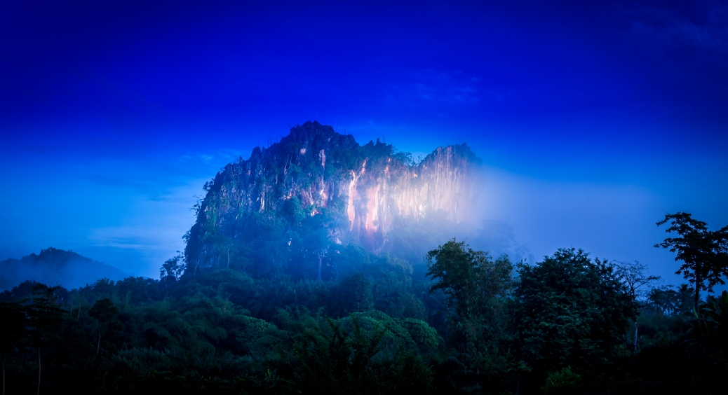 Phangna Province in Thailand has many of these limestone outcrops. Catch them in the right light and you will be rewarded